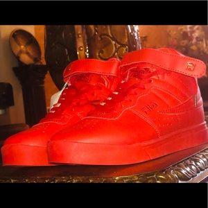 ❤️ FILA APPLE RED HIGH TOP SNEAKERS